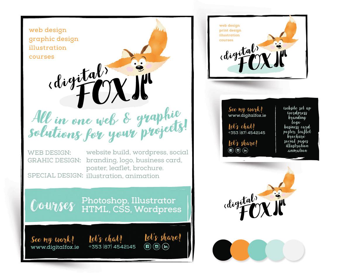 branding and graphic design west cork digital fox