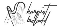 harpist ireland website logo design cork